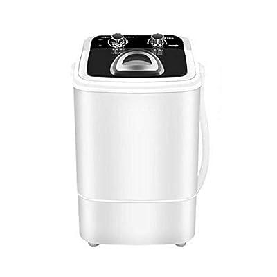 AIPZDJ Electric Mini Portable Compact Washing Shoes Brush Machine Capacity 7.2Kg Shoes Washing Machine Washer Spin Dryer with Drain Basket,Black