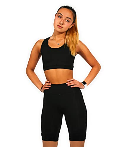 Mallas Push Up para Deporte de Mujer, Leggins Pantalon Ciclista Deporte Yoga, Leggings Ciclista Mujer Fitness Suaves Elásticos Cintura Alta para Reducir Vientre
