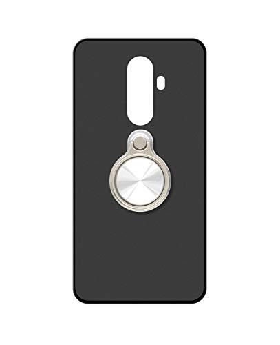 Sunrive Kompatibel mit DOOGEE BL12000 Hülle Silikon, 360°drehbarer Ständer Ring Fingerhalter Fingerhalterung Handyhülle matt Schutzhülle Etui Hülle (A3 Silberig) MEHRWEG