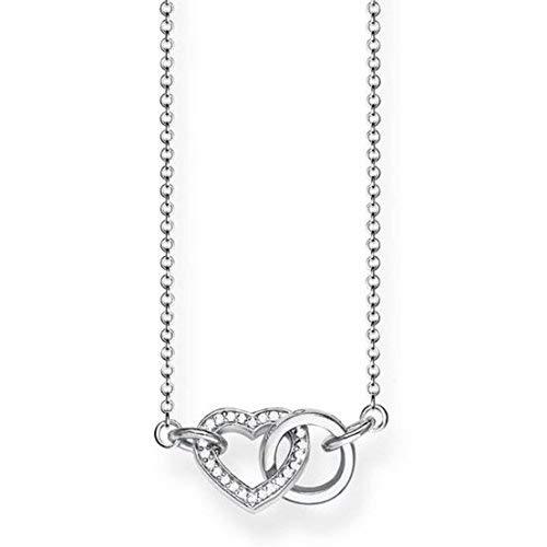 Thomas Sabo Damen-Kette Together Herz Klein Glam & Soul 925 Sterling Silber Länge von 40 bis 45 cm KE1643-051-14-L45v