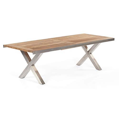 Gartentisch ausziehbar Spectra 245/331x100cm Edelstahl/Teak