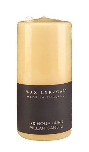 WAX LYRICAL UNSCENTED Pillar Candle 7 x 15 cm, Wax, Ivory, 7cm x 15cm