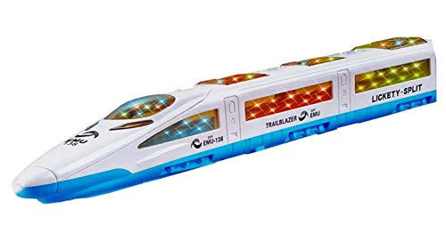 3D Lightning Train Toy, Electric Toy Train, Bump and Go Trains for 3 Year...