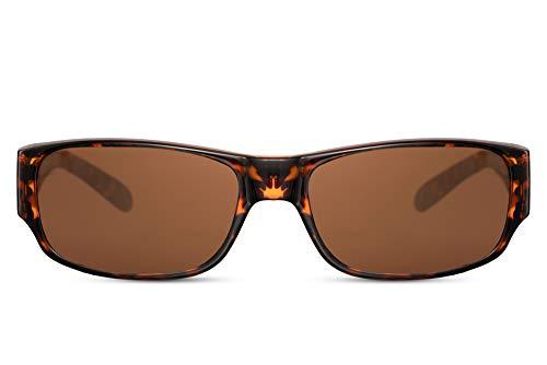 Cheapass Zonnebrillen Polariserende Overzetbrillen Past op Alle Normale Zonnebrillen Zwart en Bruine Stijlen UV400 Bescherming Heren en Dames. Perfect voor Autorijden, Wandelen etc.