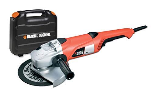 Black+Decker KG2000K haakse slijper met twee handen (2.000 watt, 230 mm schijfdiameter, inclusief slijpschijf en koffer)