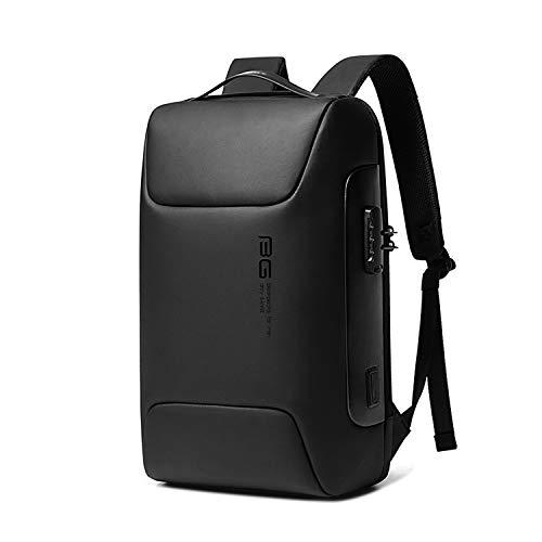 FANDARE Antifurto Zaino Zainetto Scuola con Porta USB Zaino per PC Portatile da Uomo Donna Borsa Universitaria Impermeabile Daypacks per Business Viaggio Lavoro Scuola Nero