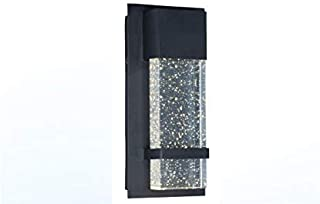 Wall Sconce by Ciata Lighting –Integrated LED Reflects Warm White Lighting Through Glass -Indoor/Outdoor Rectangular Wall Light Fixture –Modern & Stylish Sconce with Matte Black Finish (6-1/2 by 13)