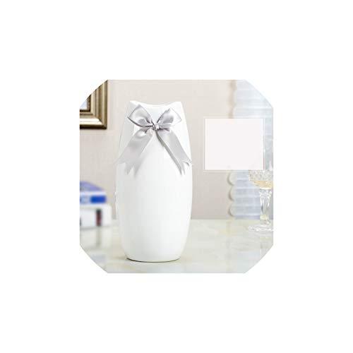 Kion Pasue vases Keramik Vase Chinese Arts and Crafts Dekor Vertraglich Porzellan Blumenvase Geschenk Haushalt Dekoration, White6