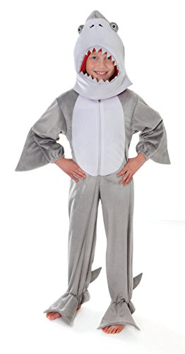 Bristol Novelty CC052 Costume da Squalo con Testa, M, 128 cm, Età circa 5-7 anni, Squalo con testa (128cm)