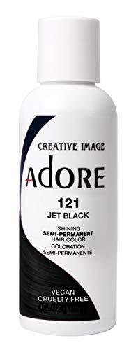 Adore Semi-Permanent Haircolor #121 Jet Black 4 Ounce (118ml) (2 Pack)
