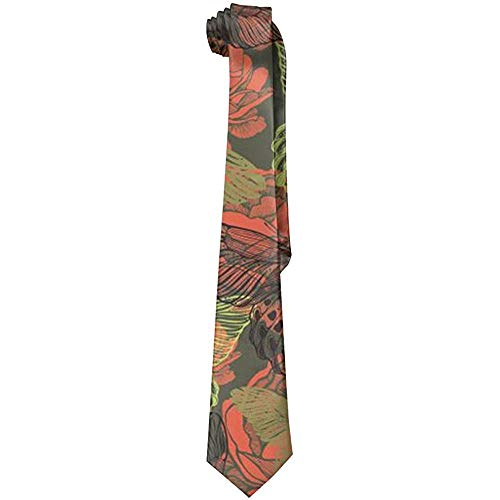 Butterfly And Flowers.png Herrenmode Krawatte Deluxe Printing Tie
