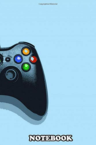 Notebook: Poster With The Timeless X360 Controller , Journal for Writing, College Ruled Size 6
