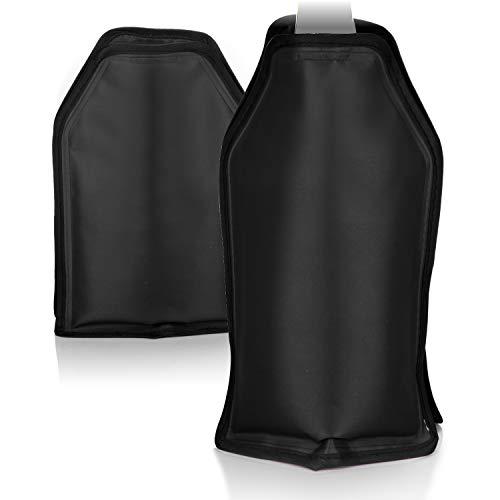 COM-FOUR® 2x Flaschenkühler für unterwegs - Sektkühler Manschette mit Gummiband - Kühlmanschette für Sekt, Wein, Bier und Softdrinks (Schwarz)