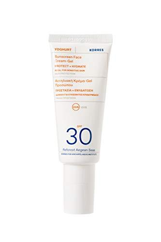 KORRES YOGHURT Sonnencreme-Gel für das Gesicht SPF30, 40 ml