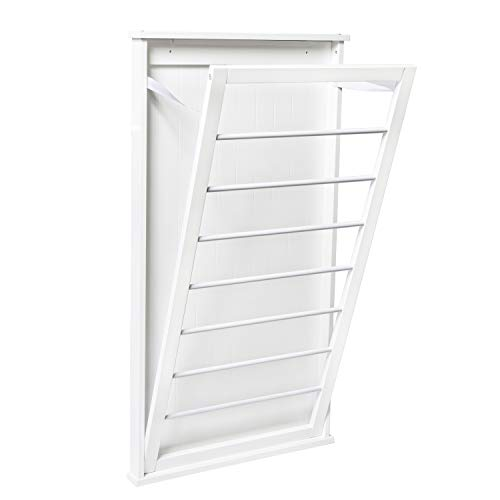 Honey-Can-Do DRY-04445 Large Wall-Mounted Drying Rack, White