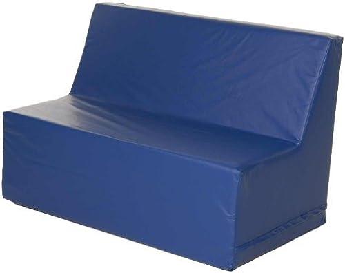 Foamnasium Straight Back Sofa, azul by Foamnasium