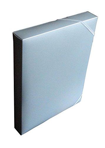Heftbox / A4 / aus PP / Farbe: silber