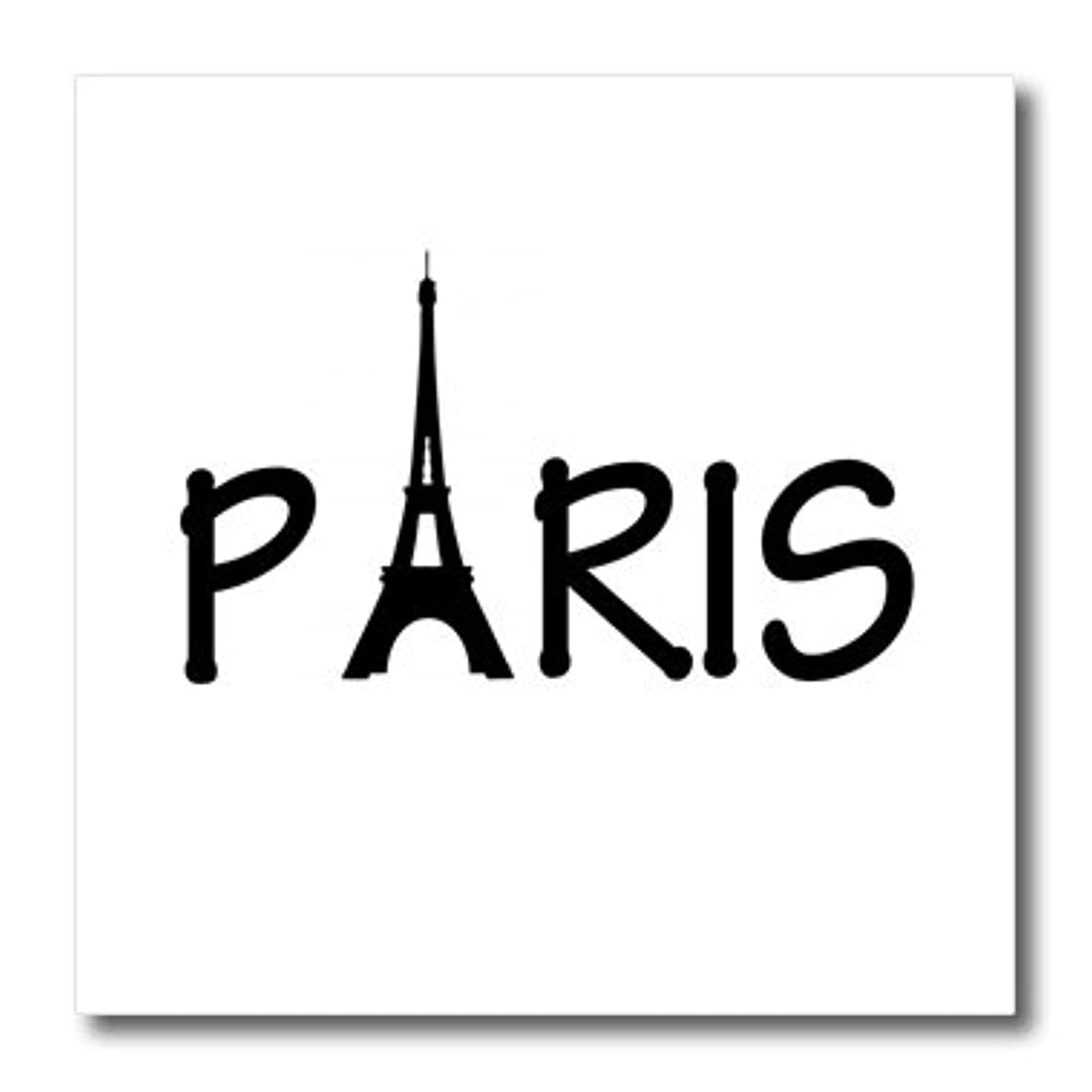 3dRose ht_157435_2 Paris Eiffel Tower Iron on Heat Transfer Paper for White Material, 6 by 6-Inch
