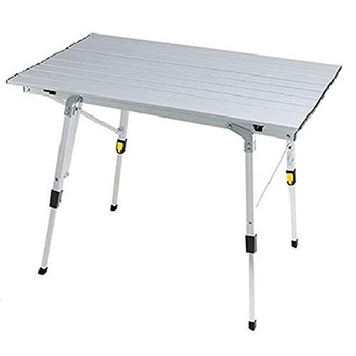 XDHN Aluminium campingtafel, in hoogte verstelbaar, vouwbaar bureau, voor op de camping, tijdens wandelen, op reis of op reis in de open lucht, picknick opvouwbare tafels