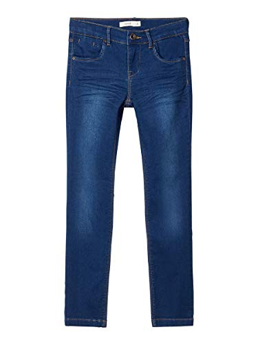 NAME IT Girl Jeans Powerstretch Sweatdenim Slim Fit 134Dark Blue Denim
