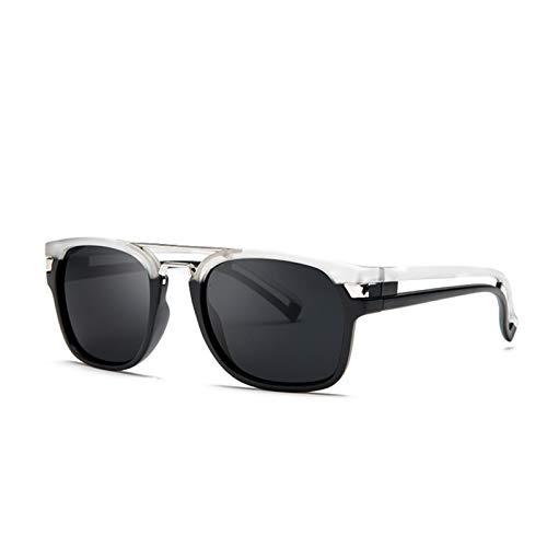 PrittUHU 2019 nuevos Hombres Gafas de Sol Hombres Mujeres Gafas de Moda Deportes conduciendo Gafas de Sol para Hombre Sombras Masculino (Lenses Color : 04 Transparent Black)