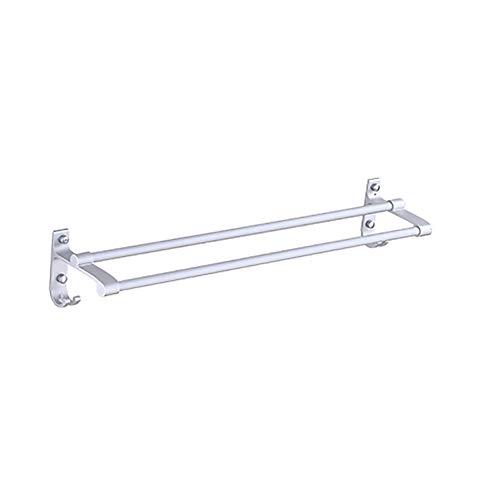 TLMY Toallero de aluminio con barra de toalla (40 cm, 50 cm, 60 cm) (color doble varilla, tamaño: 50 cm)