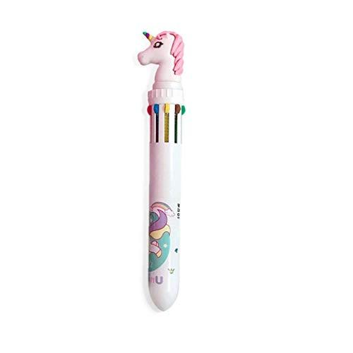 10-en-1 Retractable Multicolor Plumas bolígrafos Roller retráctil Plumas de Bola Jabón líquido de la Pluma de Tinta del bolígrafo Creativo para la Escuela para Oficina Estudiantes Regalo de los niños