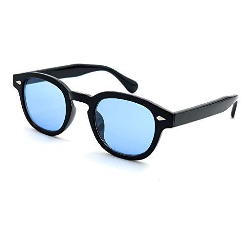 KISS Sonnenbrille stil MOSCOT mod. DEPP ICONIC - Johnny Depp mann frau VINTAGE unisex - SCHWARZ/Blau
