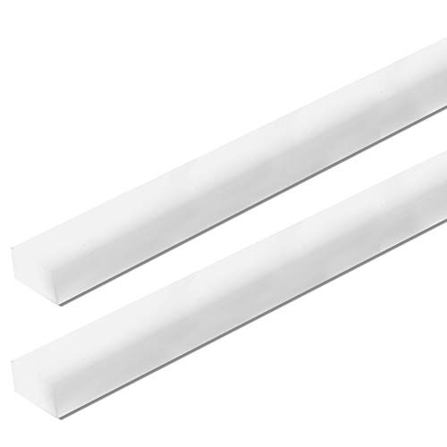 """UHMW Precision Milled Bar 3/4"""" X 3/8"""" X 36"""" For Jigs, Fixtures or Miter Slots (size 3/4"""" x 3/8""""). Slick Durable Material Slides with Ease. Ideal for Table Saws, Router Table and Bandsaws (2 UHMW Bars)"""