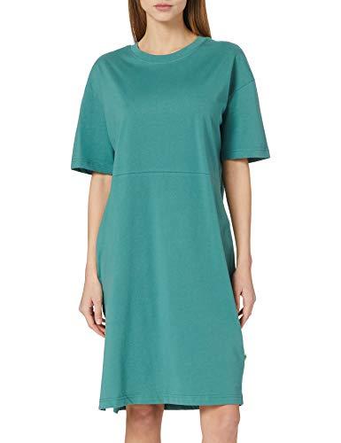 Urban Classics Ladies Organic Oversized Slit Tee Dress Robe, Paleleaf, XS Femme
