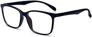 ANRRI Blue Light Blocking Glasses for Computer Use, Anti Eyestrain UV Filter Lens Lightweight Frame Eyeglasses, Black, Men/Women