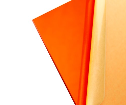 """Cast Acrylic Sheet - .118"""" Thick, TP Amber, 12"""" x 12"""" Nominal"""