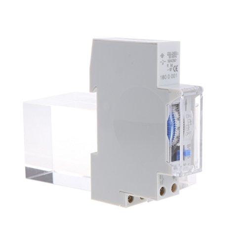 VIccoo AC 110V / AC 220V Interruptor Temporizador mecánico de 15 Minutos 24 Horas de Carril DIN programable