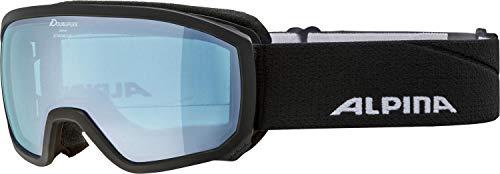 ALPINA SCARABEO JR. Q-Lite Gafas de esquí, Unisex-Youth, Black-Blue, One Size