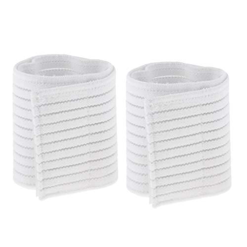 perfk Elastische Stützbandage Knöchel Handgelenkbandage Handgelenkschoner Handgelenkstütze Handgelenk Wrap - Weiß