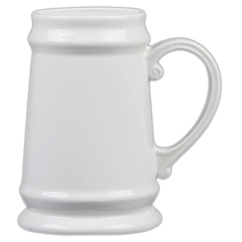 Holst Porcelana BK 001FA1Jarra de Cerveza 0,75l, Porcelana, Blanco, 10x 10x 15cm