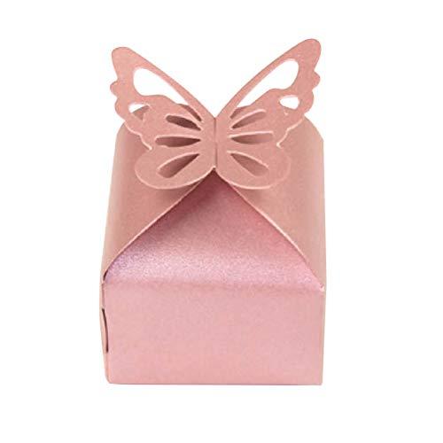 YeahiBaby 10 stücke kreative Schmetterling pralinenschachtel schöne irisierende Papier verpackung geschenkboxen Party Supplies für Hochzeit Festival (rosa)