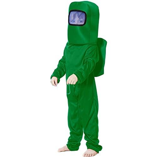 NXLWXN Astronaut Game Jumpsuit Halloween Novedad Body Set Disfraz de Cosplay para nio nia,Verde,L