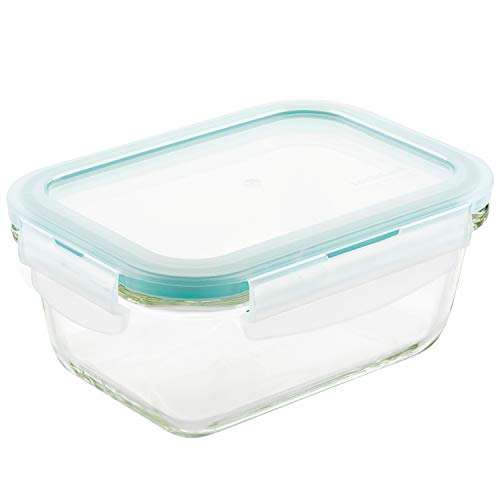 LOCK amp LOCK Purely Better Glass Food Storage Container with Lid Rectangle14 oz Clear