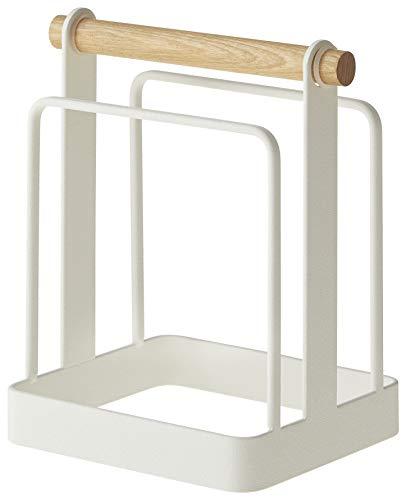 山崎実業 まな板スタンド トスカ ホワイト 2422 約W14×D10.5×H16cm