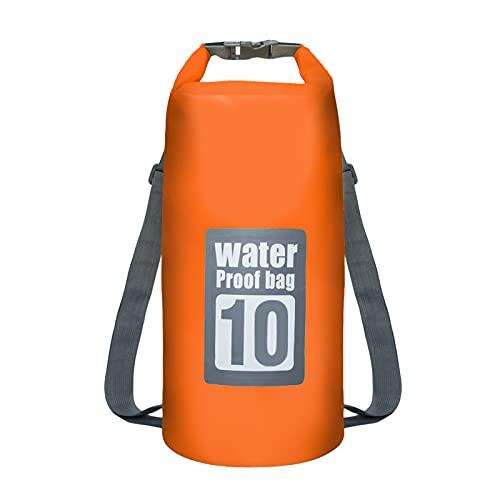 Dry Bag Sac à dos étanche 10 L 15 L Ocean Pack Sac étanche Sac étanche pour kayak, bateau, pêche, rafting, natation, sports nautiques (orange, 10 L)