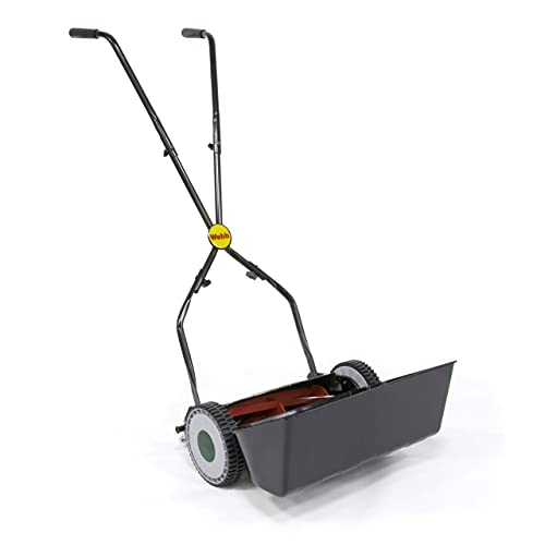 Webb WEH30 Sidewheel Manual Hand Push Cylinder Lawnmower with 4 Cutting Heights, 30cm Cutting Width and 17L Collection Box - 2 Year Guarantee