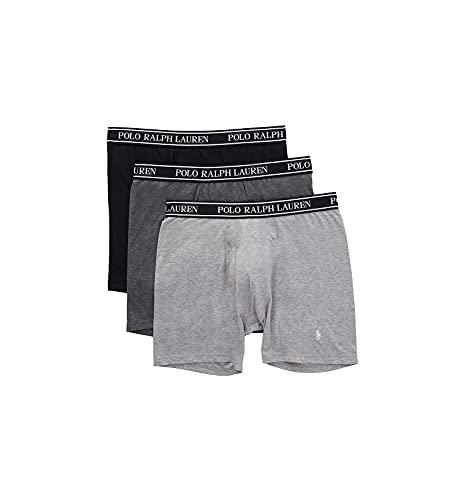 Polo Ralph Lauren Herren-Boxershorts, klassische Passform, mit Feuchtigkeitstransport, 3er-Pack - Schwarz - Medium