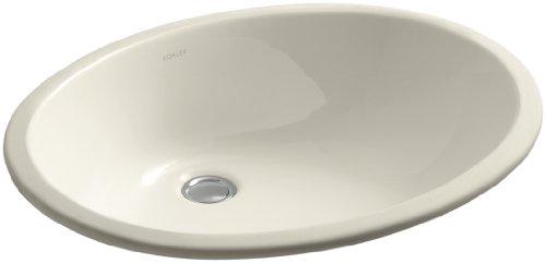 Kohler K-2211-58 Vitreous china Wall Mounted Oval Bathroom Sink, 24 x 20.76 x 10 inches, Thunder Gray