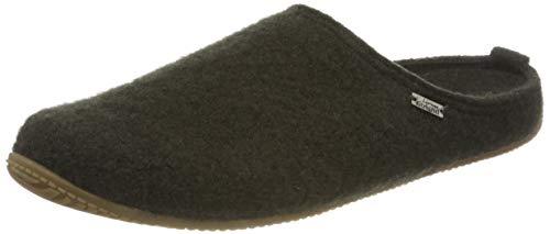 Living Kitzbühel Unisex Pantoffel unifarben mit Fußbett Hausschuh, Dark Forest, 38 EU