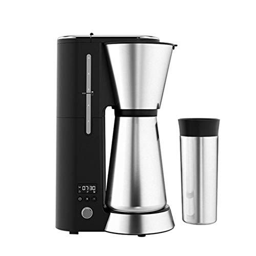 WCJ Intelligente creatore di caffè Completamente Automatica, Goccia a Goccia programmabili, Una Macchina con Due Tazze, con Un Design Timer, antigoccia, Bottiglia d'Acqua in Acciaio Inox 125ML