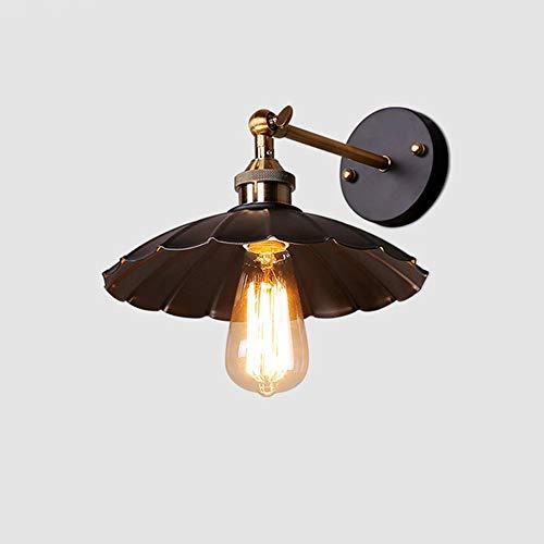 MAMINGBO MAMINGBO Lámpara de pared con brazo oscilante creativo Aplique ajustable Lámparas de bronce ajustables Industrial retro vibración de pared Brazo de hierro focos de pared flexibles zócalo de b