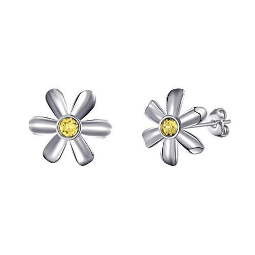 Daisy Earrings Created with Austrian Crystals