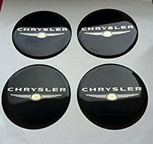 MISSLYY 4 Piezas Coche Tapas Centrales de Llantas para Chrysler,con el Logotipo...