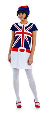 Fun Shack FN4333S Costume, Women, Mod Girl, Small